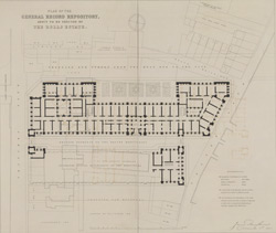 PLAN OF THE GENERAL RECORD REPOSITORY ABOUT TO BE ERECTED ON THE ROLLS ESTATE